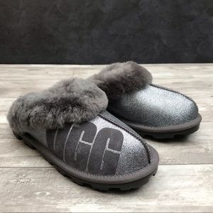 UGG Coquette Sparkle Genuine Shearling Slippers
